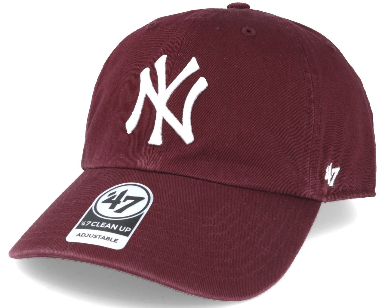 NY Yankees Maroon Clean Up Adjustable Cap photo
