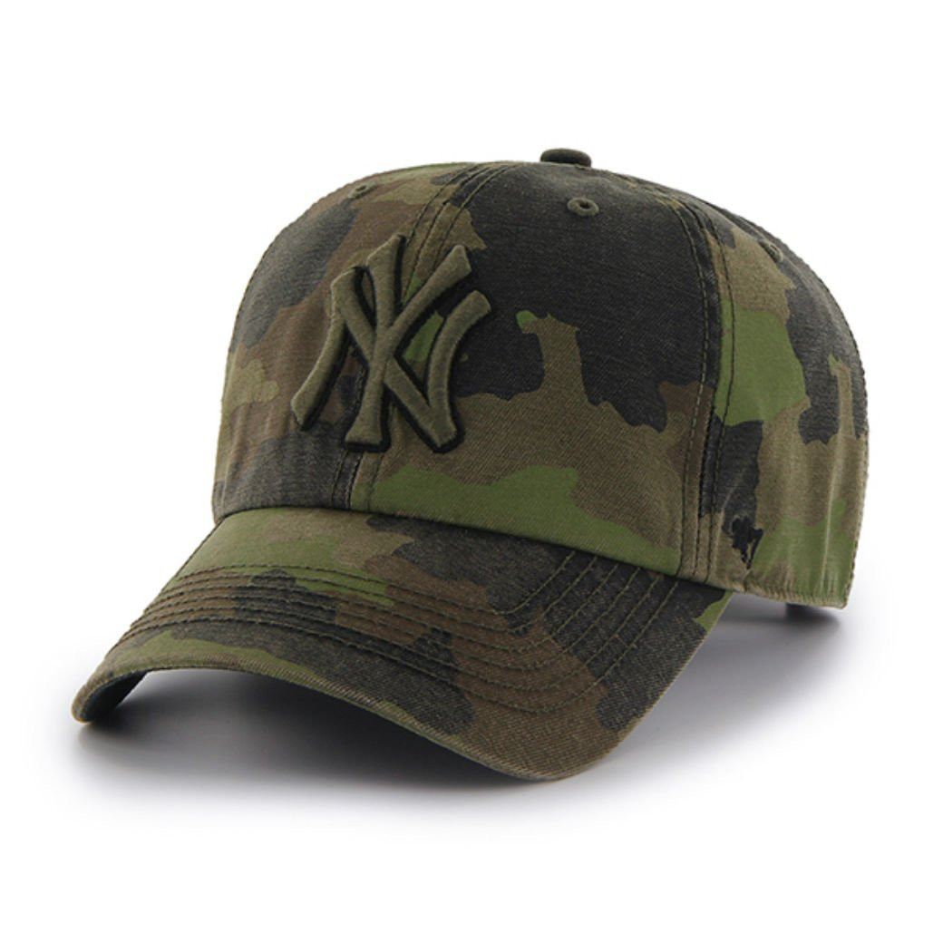NY Yankees Dark Camouflage Clean Up Adjustable Cap photo