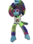 I Love NY Tie Dyed Plush Screaming Monkey with Sparkly Eyes