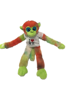 I Love NY Light Tie Dyed Plush Screaming Monkey with Sparkly Eyes