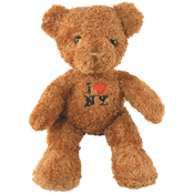 I Love NY Brown Medium Sized Hairy Plush Teddy Bear