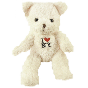 I Love NY Cream Medium Sized Plush Teddy Bear