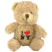 I Love NY Light Brown Small Sized Hairy Plush Teddy Bear