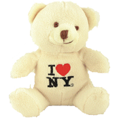 I Love NY Light Brown Small Sized Plush Teddy Bear