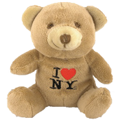 I Love NY Brown Small Sized Plush Teddy Bear