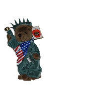 Statue of Liberty New York Patriotic Brown Plush Teddy Bear