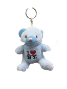 I Love NY Blue Plush Teddy Bear Key Chain