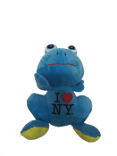 I Love NY Plush Blue Frog