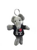 I Love NY Elephant Plush Key Chain