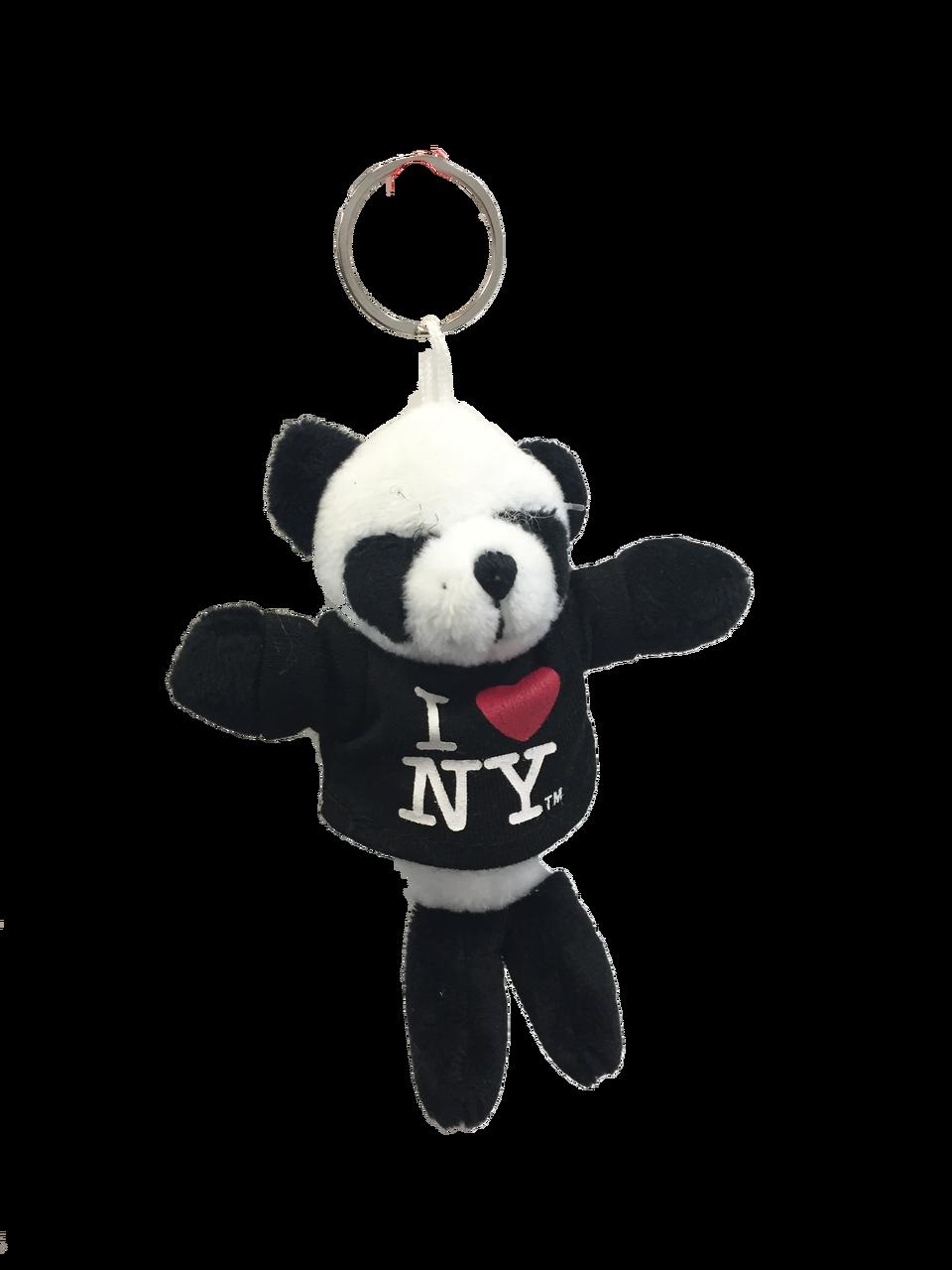 I Love NY Panda Bear Plush Key Chain photo