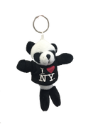 I Love NY Panda Bear Plush Key Chain