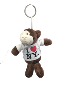 I Love NY Monkey Plush Key Chain