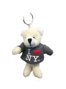 I Love NY Polar Bear Plush Key Chain