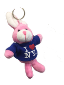 I Love NY Bunny Rabbit Plush Key Chain