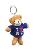I Love NY Teddy Bear Plush Key Chain