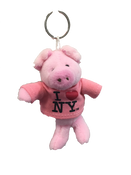 I Love NY Pig Plush Key Chain