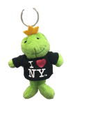 I Love NY Frog Plush Key Chain