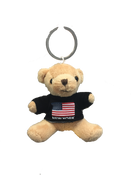 New York American Flag Plush Teddy Bear Black T-Shirt