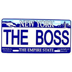 The Boss NY License Plate Photo