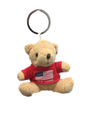 New York American Flag Plush Teddy Bear Red T-Shirt