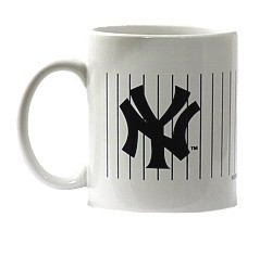 NY Yankees White & Navy Pinstripe Mug  Photo