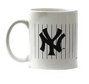 NY Yankees White & Navy Pinstripe Mug