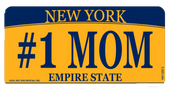 #1 Mom NY License Plate
