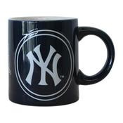 NY Yankees Logo Navy Mug