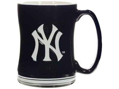 Yankees Raised Logo Navy Mug  photo