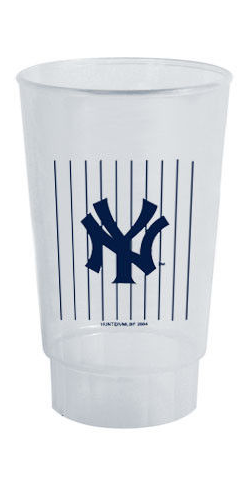 NY Yankees Pinstripe Plastic Cup  photo