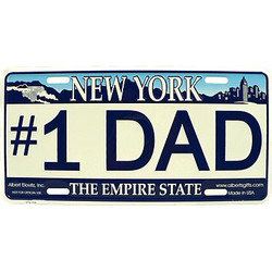 #1 Dad NY License Plate Photo