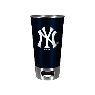 Yankees Navy Metal Pint with Openers  photo