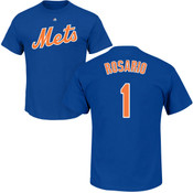 Amed Rosario T-Shirt - Blue NY Mets Adult T-Shirt
