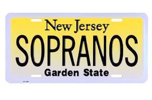 Sopranos NJ License Plate photo