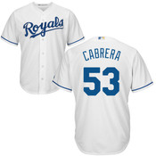Melky Cabrera Youth Jersey - Kansas City Royals Replica Kids Home Jersey