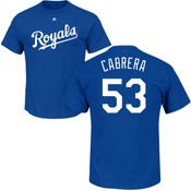 Melky Cabrera T-Shirt - Blue Kansas City Royals Adult T-Shirt