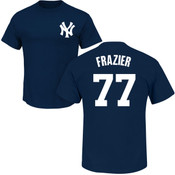 Clint Frazier T-Shirt - Navy NY Yankees Adult T-Shirt