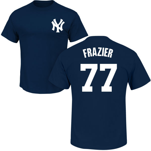 Clint Frazier Youth T-Shirt - Navy NY Yankees Kids T-Shirt photo