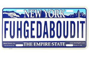 Fuhgedaboudit NY License Plate photo