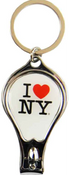 I Love NY White Drop Shape Nail Clipper Key Chain