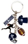New York Football Charm Key Chain