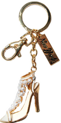 High Heel Sandal Key Ring with Diamonds & New York Tag Photo
