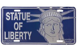 Statue Of Liberty Face License Plate Photo