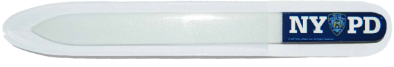 NYPD Blue Glass Nail File with Double Sided Logo  photo
