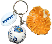 NYPD Baseball 3D Key Ring with Glove & Tag