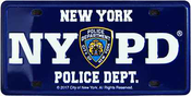 NYPD Blue Tin License Plate Magnet