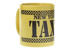 Yellow and Black Taxi Mug Photo