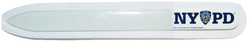 NYPD White Glass Nail File with Double Sided Logo  Photo
