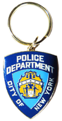 NYPD Blue Shield Brass Key Ring
