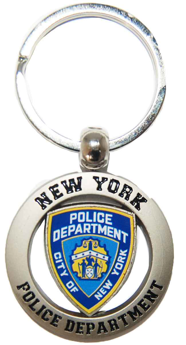NYPD Shield Cut Out Key Ring photo